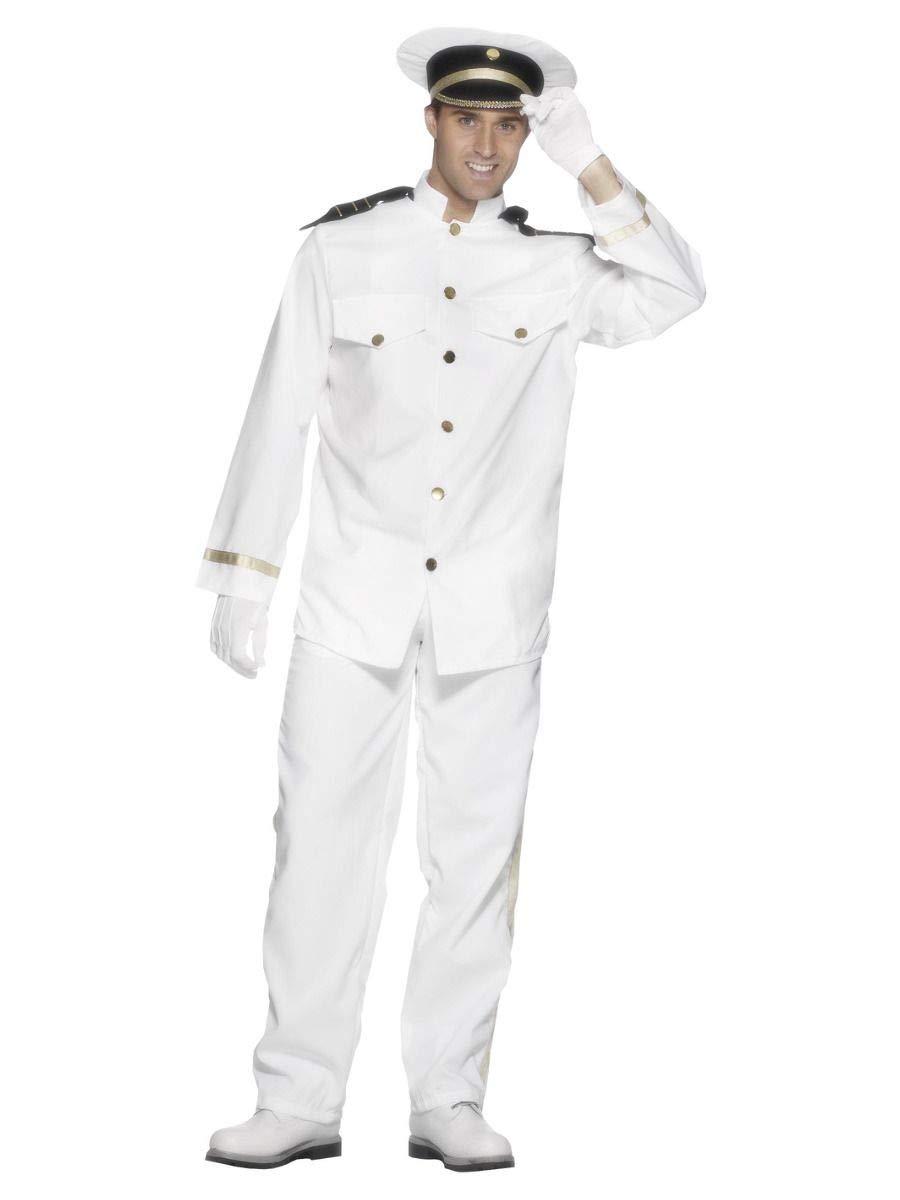 BOYS Captain Navy Sailor Costume Officer Gentleman Fancy Dress Book Week