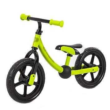 DUWEN Bicicleta de Dos Ruedas para niños con Equilibrio para niños y Bicicletas sin Pedal (Color : Green): Amazon.es: Deportes y aire libre