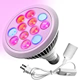 Premium LED Grow Light Bulb, High Efficient Hydroponic Grow Light for Plant, Greenhouse, Indoor Garden (12W) – With Free Extension Lamp Plug Review