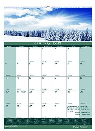 House of Doolittle 2019 Monthly Wall Calendar, Landscapes, 12 x 16.5 Inches, January - December ()