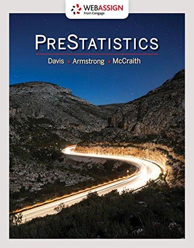 WebAssign Printed Access Card for Davis/Armstrong/McCraith's PreStatistics, Single-Term