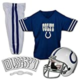 Franklin Sports Indianapolis Colts Kids Football Uniform Set – NFL Youth Football Costume for Boys & Girls – Set Includes Helmet, Jersey & Pants – Small