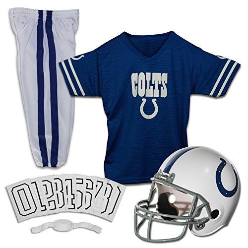 Florida Fan Halloween Costume (Franklin Sports Deluxe NFL-Style Youth Uniform - NFL Kids Helmet, Jersey, Pants, Chinstrap and Iron on Numbers Included - Football Costume for Boys and)