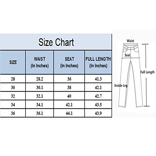 Élastique Extensible Blanc Homme Denim W28 Rouge Pantalon Mode En Trou w36 Slim Straight Noir Serré Dechiré Trouer Jeans A Droit Geurzc vnqp4zA4