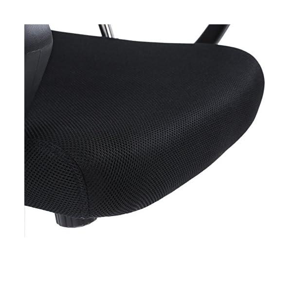 Festnight Fauteuil de Bureau à Hauteur réglable Chaise de Bureau pivotante Gris Foncé 57,5 * 59 * 113-123 cm pour relaxion et Travail