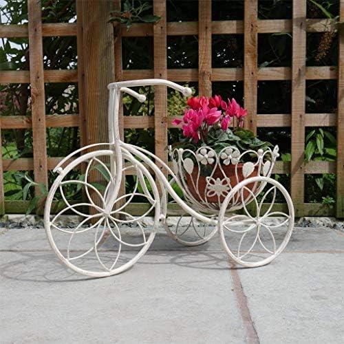 Triciclo macetero Shabby Chic Metal cestas para plantas bicicleta ...