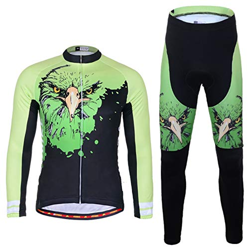 088081f01bf5c EoCot Men s Outdoor Cycling Long Sleeve Bike Jersey Set 3D Padded Tights  Suit Asia XXL US X-Large