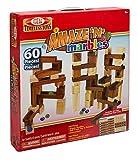60 Piece Amaze N' Marbles Classic Wood Construction Set w/Free Storage Bag