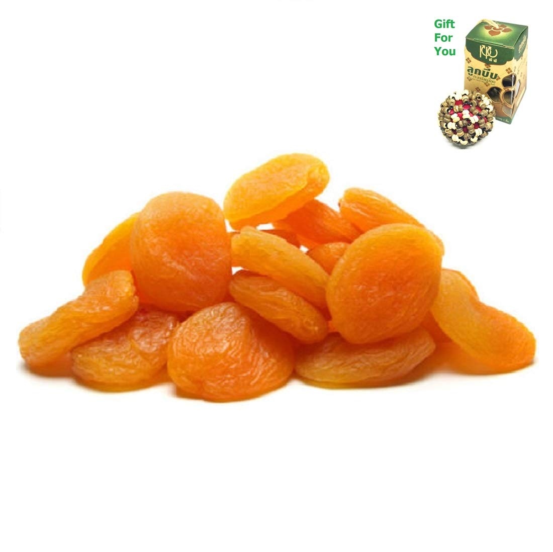 Dried Turkish Apricots (25 LBS) By SpiritOne + GIFT Coconut Shell Massage Ball