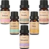 Skymore Top 6 Essential Oil Blend Gift Set, 100% Pure Aromatherapy Oils for Diffuser, Best Therapeutic Grade Essential Oil Kit – 6/10ml (Sleep, Breathe, Relaxation, Refresh, Immunity, Decompression)