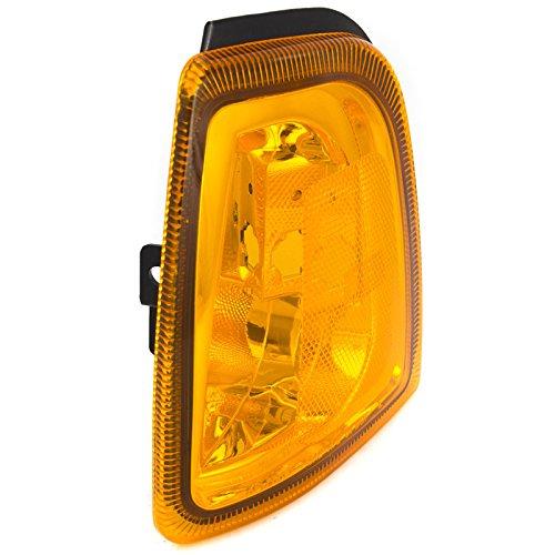 (CarPartsDepot Fit 2001-2002 Ford Ranger Edge Front Facial Side Marker Light Driver FO2520168)