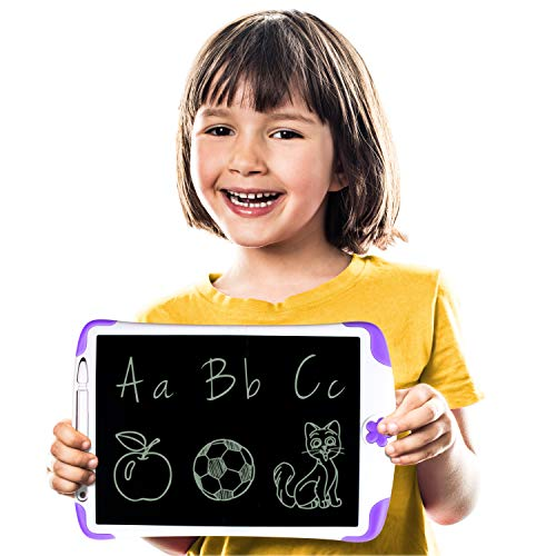 Simicore 8.5 inch Smart LCD Writing Tablet - Gift for Kids Writing Tablet Doodle Drawing Board with Erase Button and Screen Lock (Purple)