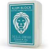 The B.I.G. Company Alum Block - 3.52oz includes Storage Case - Soothing aftershave astringent to close pores and help stop bleeding from nicks and cuts.