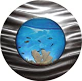 Bayshore Aquarium BW8BSLVR Medium Round Bubble Wall Aquarium, Silver