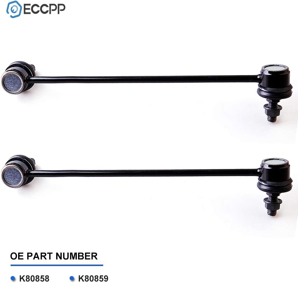 ECCPP Steering Front Sway Bar End Links Stabilizer Bar for 2006-2011 Hyundai Accent Kia Rio Rio5 2pc K80858 K80859