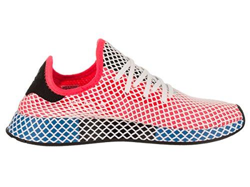 Adidas Mens Deerupt Runner Originali Scarpe Da Corsa Rosso Solare / Rosso Solare / Bluebird