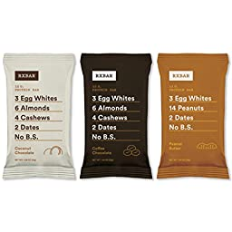 RXBAR Protein Bars, 3 Flavors Variety Pack, Pack of 6 (3 2), 1.83 oz, Whole Food(Coconut Chocolate, Coffee Chocolate, Peanut Butter), Best Seller Compliant Pack