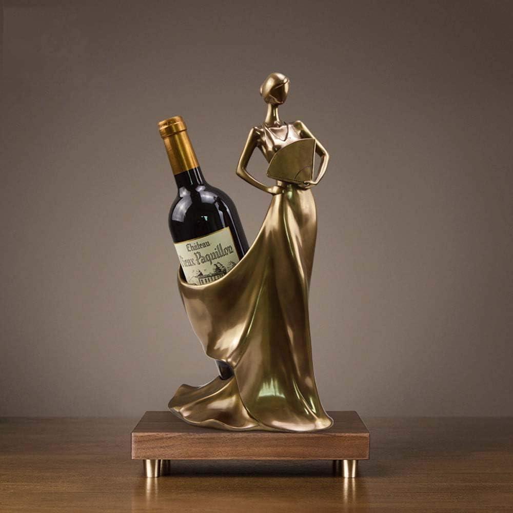 WZZJP 樹脂工芸ホームファニシングリビングルームバー美容ブロンズワインは、16 * 17 * 36センチメートルラック