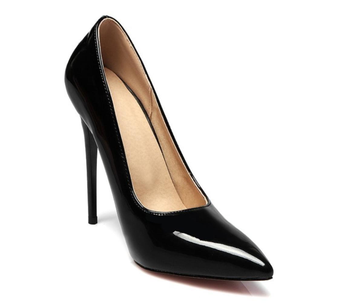 XDGG Frauen Großes Stiletto-Fersen-Hochzeits-Schuh-rote Brautschuhe spitze Zehe-flache Mund-hohe Absätze Rosa Rosafarbenes rotes schwarzes nacktes Rosa  40
