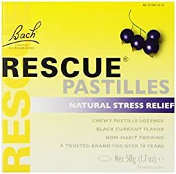 Nelson Bach Rescue Pastilles Black Currant, 50 Grams Each - 4 Pack