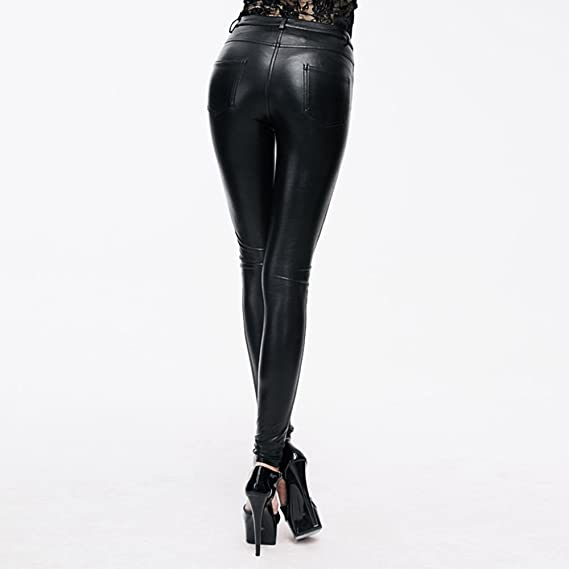 Details about  /Women/'s Strech Pull On Lace up Faux Leather Over The KneeThig HighStileto He