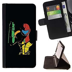 For Samsung Galaxy Core Prime / SM-G360 Case , Metroid- la tarjeta de Crédito Slots PU Funda de cuero Monedero caso cubierta de piel