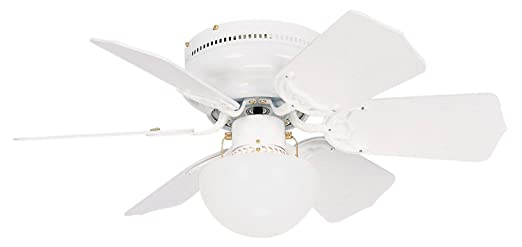 Litex Brc30ww6l Vortex 30 Inch Ceiling Fan With Six Reversible White