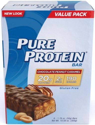 Pure Protein Value Pack, Chocolate Peanut Caramel 4 Boxes (6 Bars Each) Total of 24 Bars by Pure Protein by Pure Protein