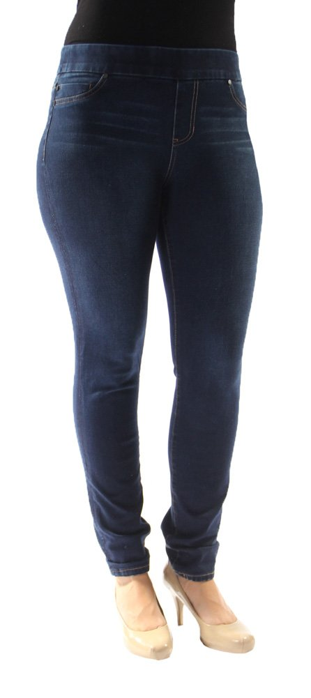Liverpool Women's Sienna Legging Pull-On Denim Jean, Cleveland Dark, 4