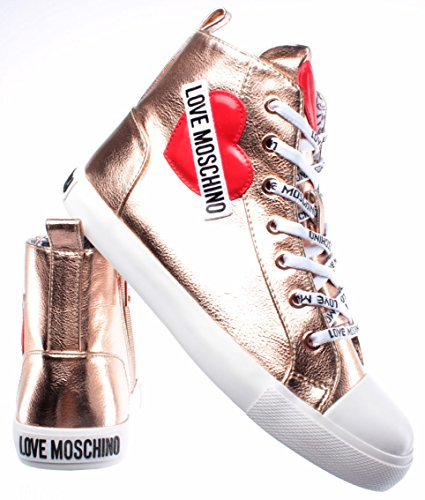 Nod Pu Gomma Love Mujer Zapatos Sneakers Lamin Sca Alte Rame 30 Moschino qq0vY