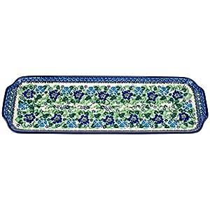 Ceramika Artystyczna Polish Hand Painted Bread Tray (Blue Garden)