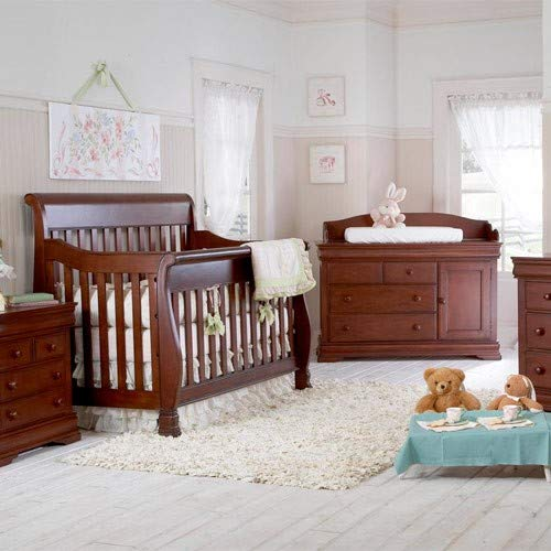 Full Size Conversion Kit Bed Rails for Creations Baby Cribs - Cherry by Grow-with-Me Crib Conversion Kits (Image #2)