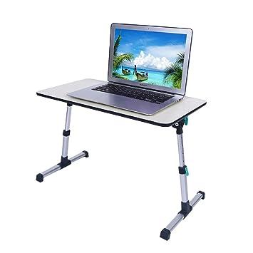 Ajustable portátil cama escritorio plegable soporte para portátil ordenador portátil, bandeja de cama sofá cama desayuno lectura soporte: Amazon.es: ...