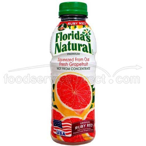 Floridas Natural Ruby Red Grape Fruit Juice, 14 Fluid Ounce - 12 per (Floridas Natural Fruit Juice)