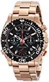 Bulova Men's 98B213 Analog Display Japanese Quartz Rose Gold Watch
