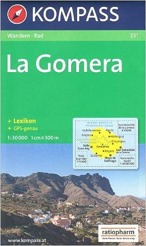 La Gomera España, Islas Canarias 1:30.000 Mapa Senderismo KOMPASS # 231: Amazon.es: KompassMaps: Libros
