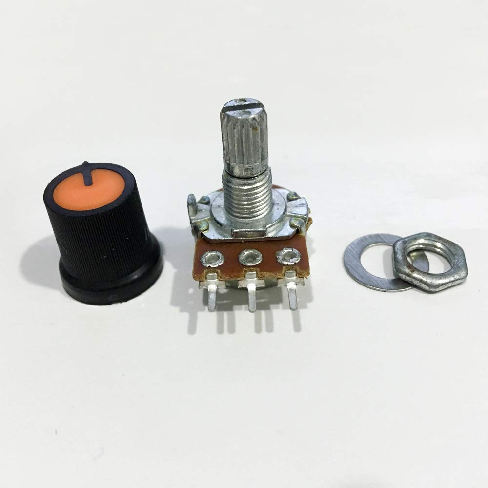 Poilee 5 Piece 5K Ohm Potentiometer with Knob 3 Terminals