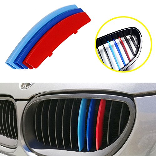 Colors 2005 Bmw (lanyun BMW M Colors(red blue light blue) Grille Insert Trims Decorate For 2004-2010 E60 5 Series 525i 528i 530i 535i 540i 545i 550i M5 Front Center Kidney Grilles (11 Beams))