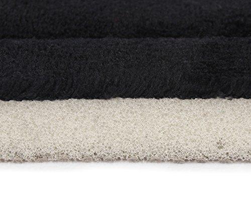 FABBRICA HOME Ultra-Soft Extra-Thick Memory Foam Runner (2 ft x 5 ft, Black)