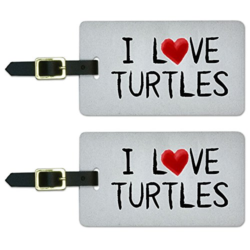 Turtles Written Luggage Suitcase Carry