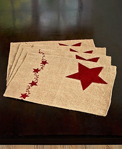 Set of 4 Star Placemats (Star Placemat Set)