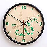 Reloj De Pared Simple Moderno, Elegante Silencioso No-Que Hace Tictac Los Relojes Decorativos De La Pared para El Dormitorio De La Sala De Estar (Diámetro Los 30Cm/35Cm),B,12INCH