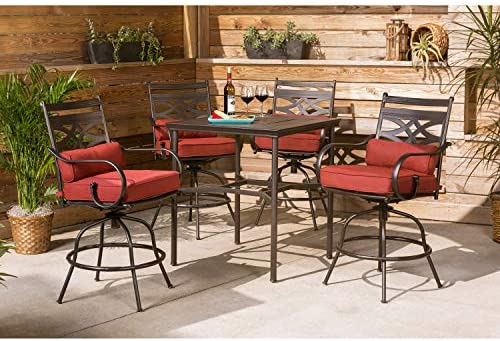 Mainstays Wesley Creek 5 Piece Counter Height Dining Set Brown