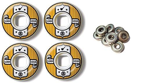 銅否認するむしゃむしゃElementスケートボードWheels 53 mm 101 a Representのセット4 with Abec 7 Bearings
