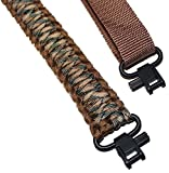 Crossbow for Women - Estobi Outfitters Rifle Sling 550 Paracord - 2 Point Adjustable Gun Strap W/Metal Swivels - Rifle Shotgun Crossbow - Hunting Shooting