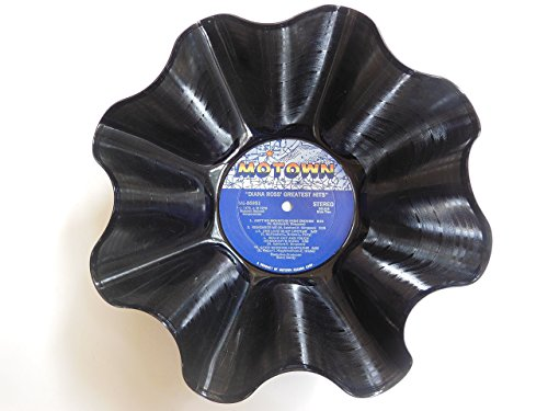 Motown Label Vinyl Record Bowl – Handmade using any original Motown singer/group.