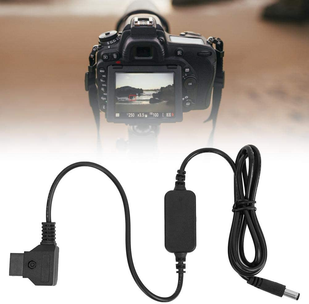 Full Decoded NP-FZ100 to D-Tap DC Coupler Adapter Suitable for NP-FZ100 Battery Camera Mugast Black ABS Plastic Dummy Battery Cable