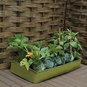 Haxnicks L855 Patio Raised Bed Planter, Green Polyethylene