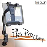 iBOLT TabDock FlexPro Clamp- Heavy Duty C-Clamp mount for all 7'' - 10'' tablets ( iPad , Nexus, Samsung Galaxy Tab ) For Desks, Tables, Wheelchairs, Carts, etc : Great For Homes, Schools, and Offices