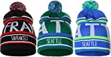 American Cities Unisex USA Cities Fashion Large Letters Pom Pom Knit Hat Cap Beanie